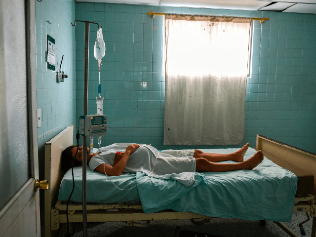 Venezuelan national Dayana Zambrano, 21, rests, as she waits for her due date at the Erasmo Meoz University Hospital in Cucuta, North of Santander department, Colombia on July 25, 2017. Lack of food and medicine amid Venezuela's violent political crisis, threaten many pregnant women, pushing them to migrate to Colombia …