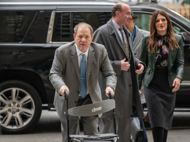 NEW YORK, NY - FEBRUARY 18: Film producer Harvey Weinstein arrives at the criminal court as jury deliberations begin in his rape and assault trial on February 18, 2020 in New York City. Weinstein has pleaded not-guilty to five counts of rape and sexual assault, he faces a possible life …