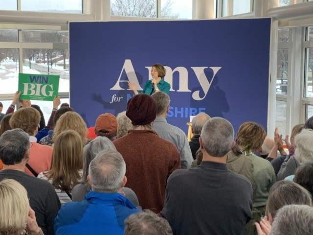 Amy Klobuchar town hall New Hampshire (Joel Pollak / Breitbart News)