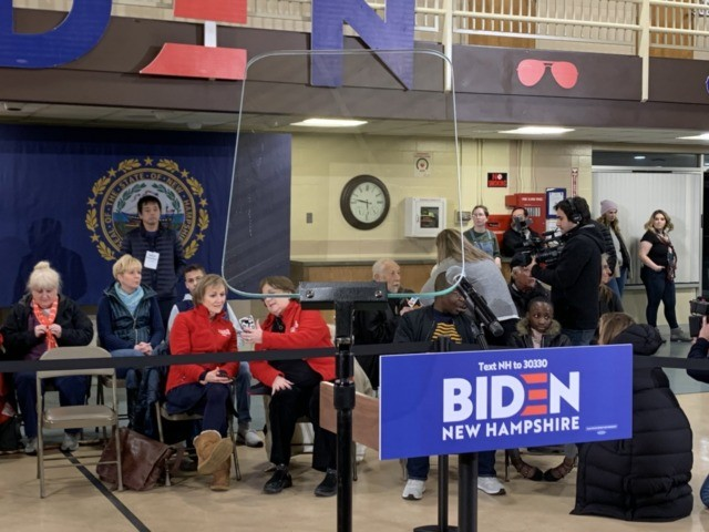 Joe Biden Teleprompter (Joel Pollak / Breitbart News)