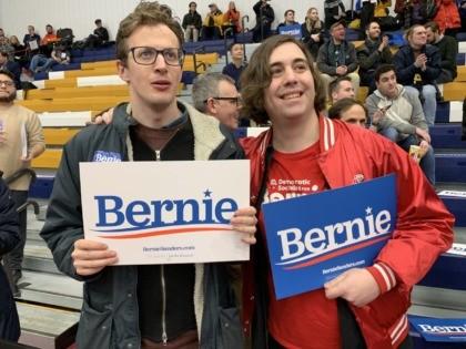 Democratic socialist at Bernie Sanders New Hampshire (Joel Pollak / Breitbart News)