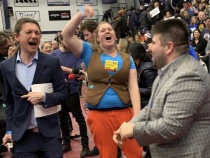 Bernie Sanders supporters at New Hampshire rally (Joel Pollak / Breitbart News)