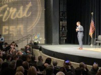 Pete Buttigieg at LULAC Forum (Joel Pollak / Breitbart News)