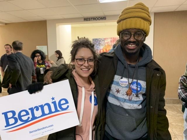 Bernie Sanders supporters (Joel Pollak / Breitbart News)