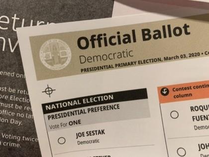 California Democratic primary ballot (Joel Pollak / Breitbart News)