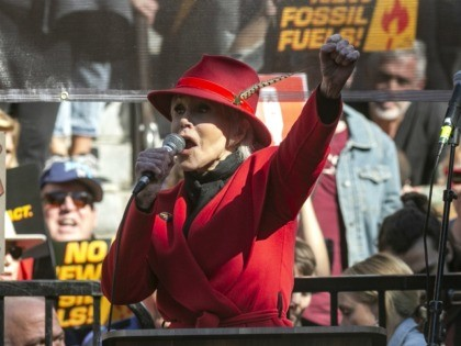 Jane Fonda leads a Fire Drill Fridays rally, calling for action to address climate change at Los Angeles City Hall Friday, Feb. 7, 2020. A half-century after throwing her attention-getting celebrity status into Vietnam War protests, Fonda is now doing the same in a U.S. climate movement where the average …