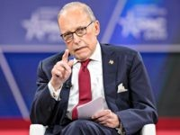 NATIONAL HARBOR, MD - FEBRUARY 28: Larry Kudlow, Director of the White House National Economic Council, speaks at the Conservative Political Action Conference 2020 (CPAC) hosted by the American Conservative Union on February 28, 2020 in National Harbor, MD. (Photo by Samuel Corum/Getty Images)