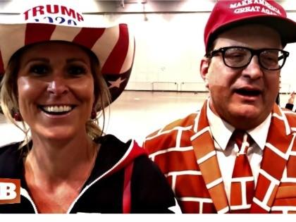 Donald Trump Brings 'MAGA Cowgirl,' 'Wall Man' and 'Fake News Man' on Stage