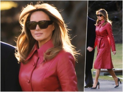 First Lady Melania Trump was a queen of hearts of …