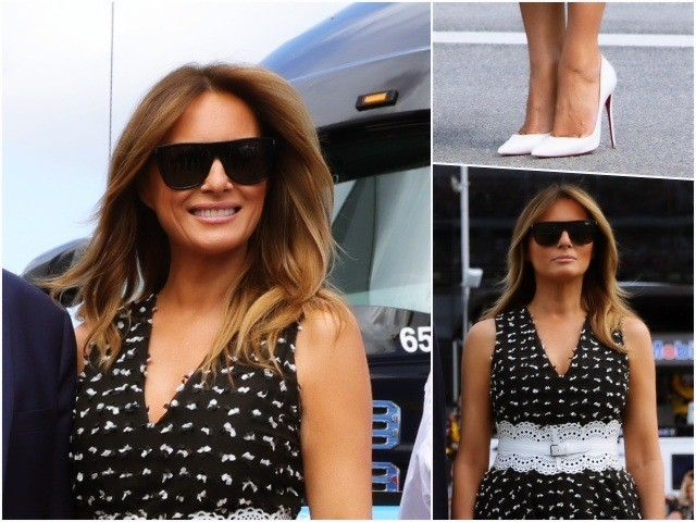 Fashion Notes: Melania Trump Is Checkered in Christian Dior, Azzedine Alaïa for Daytona 500