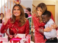 First Lady Melania Trump brought love and sweets to children …
