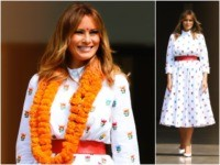 First Lady Melania Trump spent the day in New Delhi, …