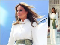 First Lady Melania Trump jet-setted off to Agra, India this …