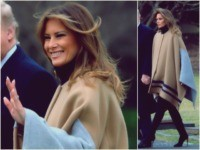 First Lady Melania Trump departed the White House alongside President …