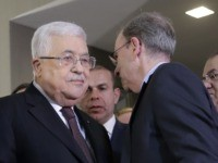 Mahmoud Abbas and Jeremy Ben-Ami (Seth Wenig / Associated Press)