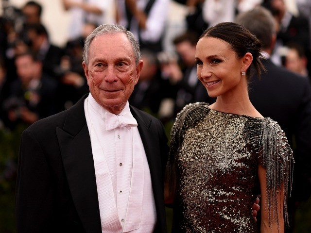 "NEW YORK, NY - MAY 04: Michael Bloomberg and Georgina Bloomberg attend the ""China: Through The Looking Glass"" Costume Institute Benefit Gala at the Metropolitan Museum of Art on May 4, 2015 in New York City. (Photo by Dimitrios Kambouris/Getty Images)"