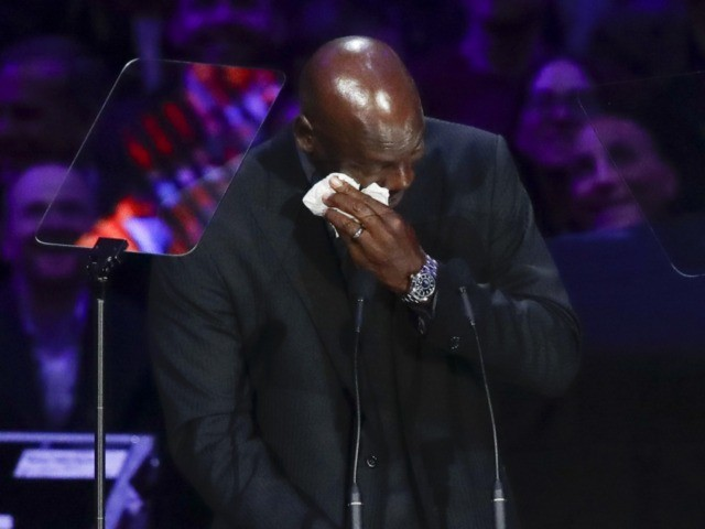 Michael Jordan crying (Marcio Jose Sanchez / Associated Press)