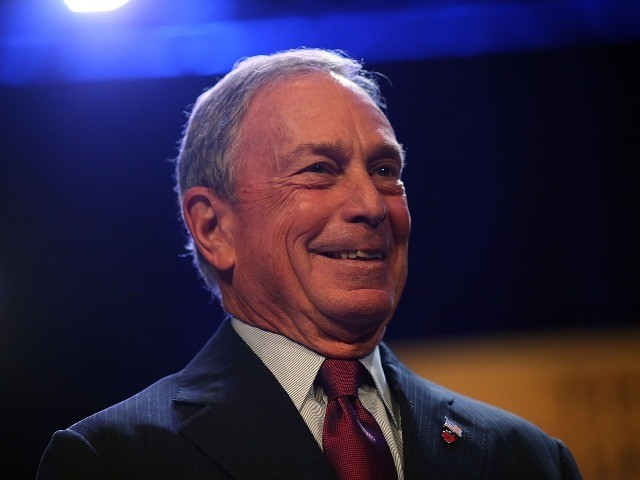 Mike Bloomberg smiles