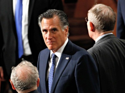 Sen. Mitt Romney, R-Utah, arrives before President Donald Trump delivers his State of the Union address to a joint session of Congress on Capitol Hill in Washington, Tuesday, Feb. 4, 2020. (AP Photo/Patrick Semansky)