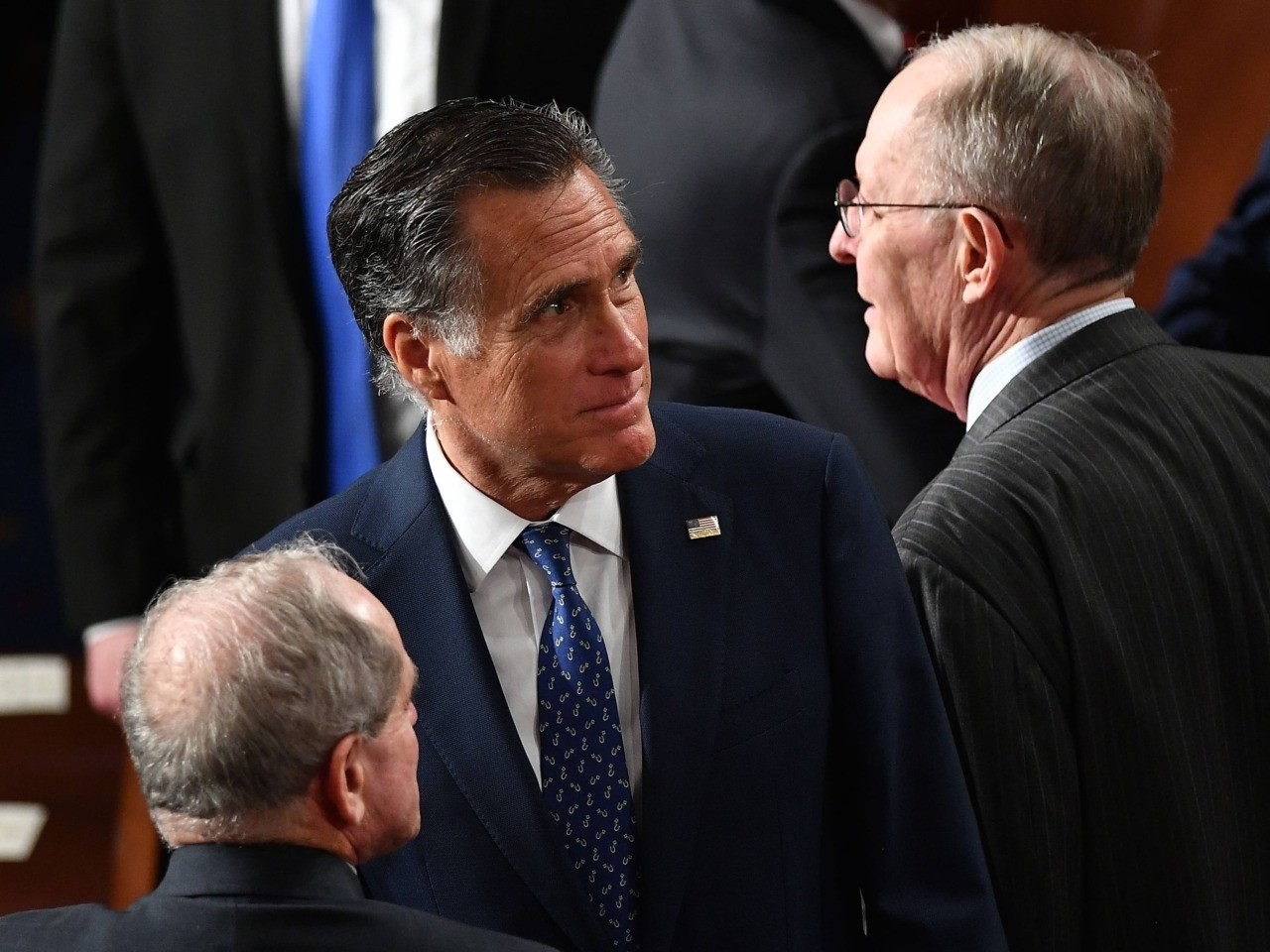 Mitt Romney at State of the Union (Mandel Ngan / AFP / Getty)