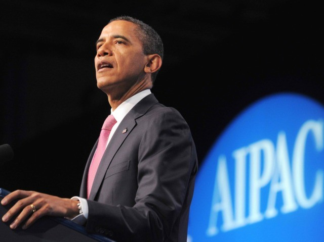 Obama at AIPAC (Jewel Samad / Getty)