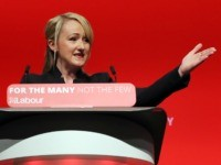 Shadow Secretary of State for Business, Energy and Industrial Strategy Rebecca Long-Bailey's speaks in the main hall, on day three of the annual Labour Party Conference on September 26, 2017 in Brighton, England. (Photo by Dan Kitwood/Getty Images)
