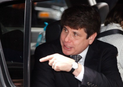 CHICAGO, IL - JUNE 27: Former Illinois Governor Rod Blagojevich leaves following a guilty verdict in his corruption retrial at the Dirksen Federal Courthouse June 27, 2011 in Chicago, Illinois. After deliberating for nine days jurors found Blagojevich guilty of 17 out of the 20 counts that he was being …