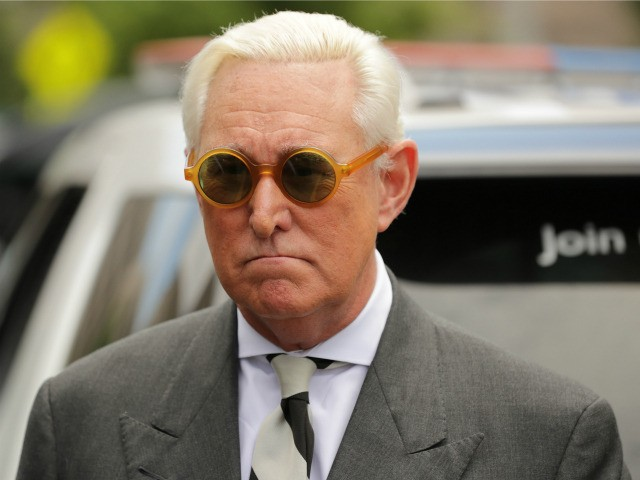 Roger Stone, former adviser to U.S. President Donald Trump, leaves the E. Barrett Prettyman United States Court House May 30, 2019 in Washington, DC. Lawyers asked a judge to dismiss the charges of obstruction, lying and witness tampering against Stone that stem from Special Counsel Robert Mueller's investigation into Russian …