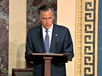 WASHINGTON, DC - FEBRUARY 5: In this screengrab taken from a Senate Television webcast, Sen. Mitt Romney (R-UT) talks about how his faith guided his deliberations on the articles of impeachment during impeachment proceedings against U.S. President Donald Trump in the Senate at the U.S. Capitol on February 5, 2020 …