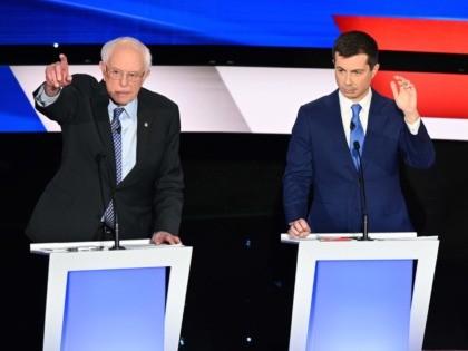 Sanders Buttigieg (Robyn Beck / AFP / Getty)