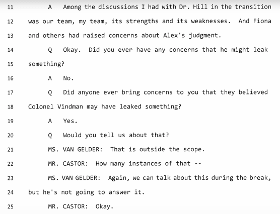 Morrison testimony Oct. 31 (HPSCI / NPR / Screenshot)