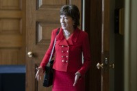 WASHINGTON, DC - FEBRUARY 4: Senator Susan Collins (R-ME) departs a Senate policy lunch at the U.S. Capitol on February 4, 2020 in Washington, DC. The Senate heard closing arguments yesterday after voting to block witnesses from appearing in the impeachment trial. The final vote is expected on Wednesday. (Photo …