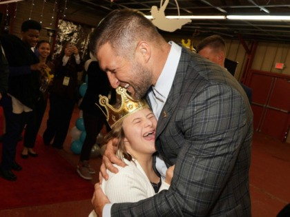 Athlete Tim Tebow and his wife, Demi-Leigh Nel-Peters, kicked off the sixth annual Night to Shine for people with special needs this week.
