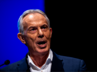 "LONDON, ENGLAND - DECEMBER 06: Former Prime Minster Tony Blair speaks at a ""Vote for a Final Say"" rally about Brexit and the upcoming general election on December 6, 2019 in London, England. Former Prime ministers Tony Blair and John Major were joined by other political figures including Michael Heseltine, …"