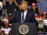 President Donald Trump speaks during a campaign rally, Friday, Feb. 21, 2020, in Las Vegas. (AP Photo/Patrick Semansky)