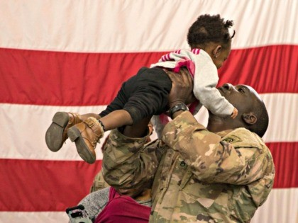 A soldier reunites with his daughter at Fort Bragg, N.C. after returning from the Middle East. The 82nd Airborne Division's Immediate Response Force had been deployed since New Years Eve. Thursday, Feb. 20, 2020. Nearly two months after a U.S. Army rapid-response force was activated amid tensions with Iran, deploying …