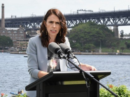 SYDNEY, AUSTRALIA - FEBRUARY 28: (L-R) New Zealand Prime Minister, Jacinda Ardern and Australian Prime Minster, Scott Morrison speak to media at a press conference held at Admiralty House on February 28, 2020 in Sydney, Australia. Ardern is in Australia for two days for the annual bilateral meetings with Australian …