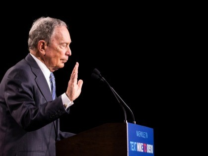 NASHVILLE, TN - FEBRUARY 12: Democratic presidential candidate former New York City Mayor Mike Bloomberg delivers remarks during a campaign rally on February 12, 2020 in Nashville, Tennessee. Bloomberg is holding the rally to mark the beginning of early voting in Tennessee ahead of the Super Tuesday primary on March …