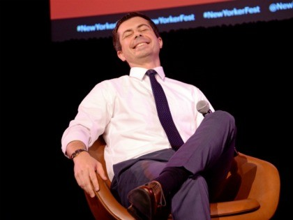 NEW YORK, NEW YORK - OCTOBER 12: Mayor Pete Buttigieg speaks onstage during a talk with David Remnick at the 2019 New Yorker Festival on October 12, 2019 in New York City. (Photo by Brad Barket/Getty Images for The New Yorker)