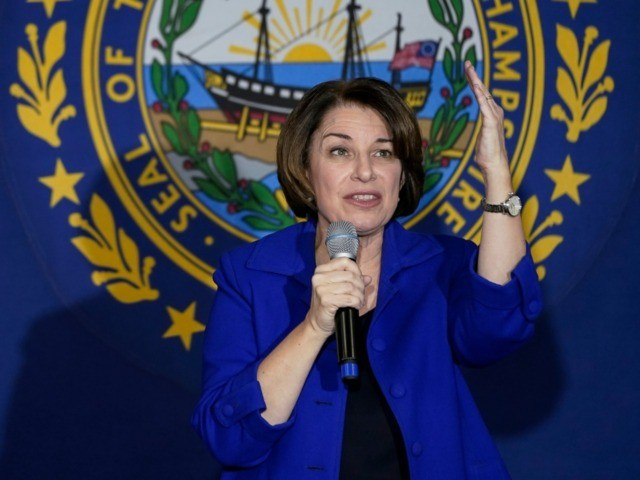 MANCHESTER, NH - FEBRUARY 09: Democratic presidential candidate Sen. Amy Klobuchar (D-MN) speaks during a Get Out The Vote event at the University of Southern New Hampshire on February 9, 2020 in Manchester, New Hampshire. New Hampshire will hold its first in the national primary on Tuesday. (Photo by Drew …