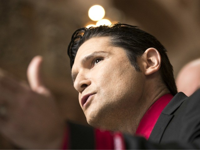 ALBANY, NY - MARCH 14: Actor Corey Feldman speaks in support of the Child Victims Act on March 14, 2018 at the New York State Capitol in Albany, New York. (Photo by Brett Carlsen/Getty Images)