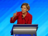 MANCHESTER, NEW HAMPSHIRE - FEBRUARY 07: Democratic presidential candidate Sen. Elizabeth Warren (D-MA) participates in the Democratic presidential primary debate in the Sullivan Arena at St. Anselm College on February 07, 2020 in Manchester, New Hampshire. Seven candidates qualified for the second Democratic presidential primary debate of 2020 which comes …