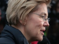DURHAM, NEW HAMPSHIRE - FEBRUARY 11: Democratic presidential candidate Sen. Elizabeth Warren (D-MA) visits with supporters on the campus of the University of New Hampshire on February 11, 2020 in Durham, New Hampshire. Voters are at the polls today for the first-in-the-nation New Hampshire primary. (Photo by Scott Olson/Getty Images)