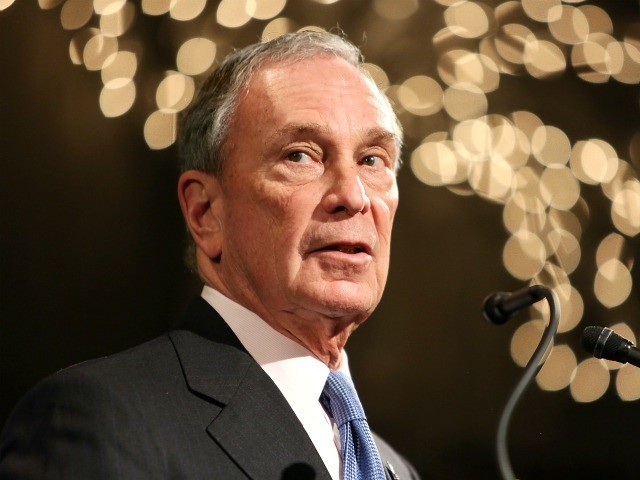 "NEW YORK, NY - FEBRUARY 10: (EXCLUSIVE ACCESS, SPECIAL RATES APPLY) Former Mayor of New York City, Michael Bloomberg, speaks at the ""Not One More"" Event at Urban Zen on February 10, 2015 in New York City. (Photo by Monica Schipper/Getty Images)"