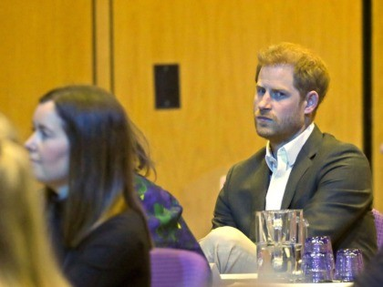 EDINBURGH, SCOTLAND - FEBRUARY 26: Prince Harry, Duke of Sussex listens as he attends a sustainable tourism summit at the Edinburgh International Conference Centre on February 26, 2020 in Edinburgh, Scotland. (Photo by Andrew Milligan-WPA Pool/Getty Images)