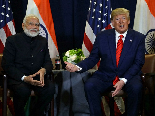 President Donald Trump meets with Indian Prime Minister Narendra Modi at the United Nations General Assembly, in New York. (AP Photo/Evan Vucci)