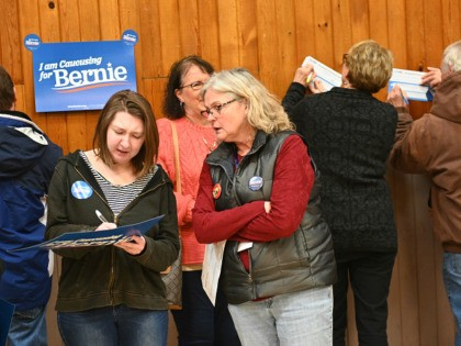 CARPENTER, IA - FEBRUARY 03: Supporters of Democratic presidential candidate, Sen. Bernie Sanders (I-VT) were calculated as viable on February 3, 2020 in Carpenter, Iowa. Iowa is the first contest in the 2020 presidential nominating process with the candidates then moving on to New Hampshire. (Photo by Steve Pope/Getty Images)