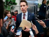 WASHINGTON, DC JANUARY 6: U.S. Sen. Josh Hawley (R-MO) speaks with reporters about Iran and a potential Senate impeachment trial in the Senate Subway at the U.S. Capitol January 6, 2020 in Washington, DC. Secretary of State Pompeo was reportedly at the Capitol to brief a small group of Senators …