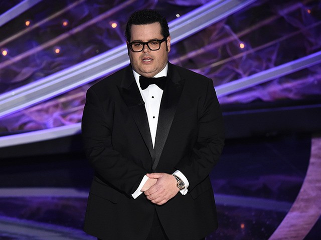 Josh Gad speaks onstage at the Oscars on Sunday, Feb. 9, 2020, at the Dolby Theatre in Los Angeles. (AP Photo/Chris Pizzello)