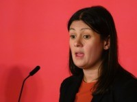 CARDIFF, WALES - FEBRUARY 02: Lisa Nandy speaks at the Labour Leadership Hustings at Cardiff City Hall on February 2, 2020 in Cardiff, Wales. Keir Starmer, Rebecca Long-Bailey, Emily Thornberry and Lisa Nandy are vying to replace Labour leader Jeremy Corbyn, who offered to step down following his party's loss …